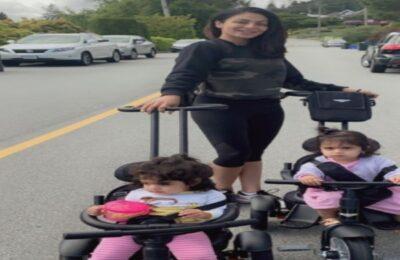 "Neeru Bajwa's Daughter : ""Aalia Feels The Beat"""