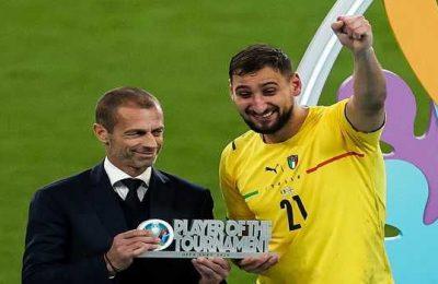 Italian goalkeeper Gianluigi Donnarumma declared player of the tournament at Euro 2020