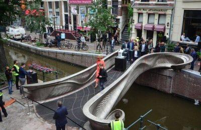 World's First 3D-Printed Steel Bridge Open In Amsterdam