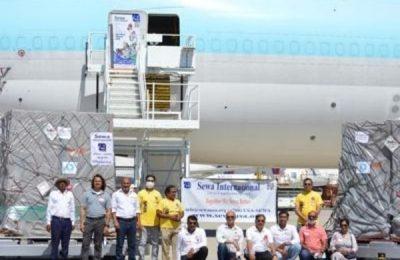 Sewa International Helps In Transporting Lifesaving Supplies To India