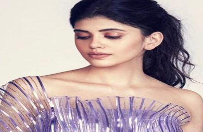 Sanjana Sanghi Stuns In ₹1.25 Lakh Metallic Winged Gown By Amit Aggarwal