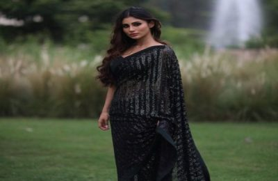 Mouni Roy Is A 'Saree Girl Forever' In Black Sheer Saree