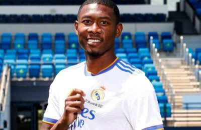David Alaba says he's honoured to take over Sergio Ramos' jersey at Real Madrid
