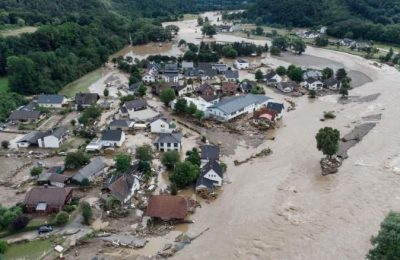 Dozens of people died in flooding in Europe triggered by rainfall 'not seen in 100 years'.