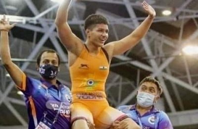 PM Modi congratulates Indian wrestling team for winning 13 medals at World Cadet C'ships