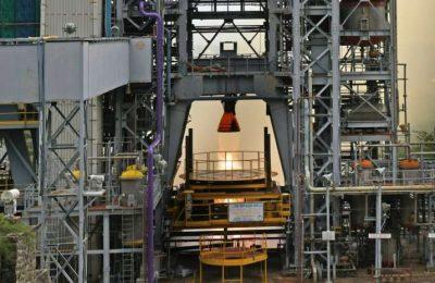 ISRO successfully test-fires liquid fuel engine for Gaganyaan rocket