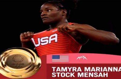 US Wrestler Stock Mensah wins freestyle 68kg Gold among Women at Tokyo Olympics