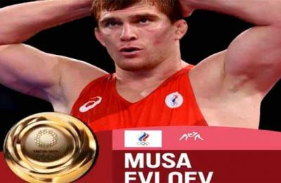 Russian wrestler Musa Evloev wins Olympic Gold in Greco-Roman 97 Kg tournament