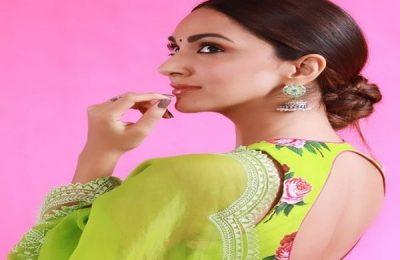 Kiara Advani Wears Green Organza Saree For Shershaah Promotion