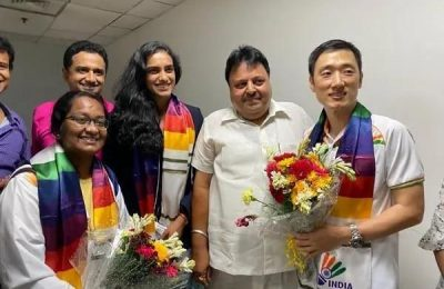 Olympic medallist PV Sindhu arrives in India
